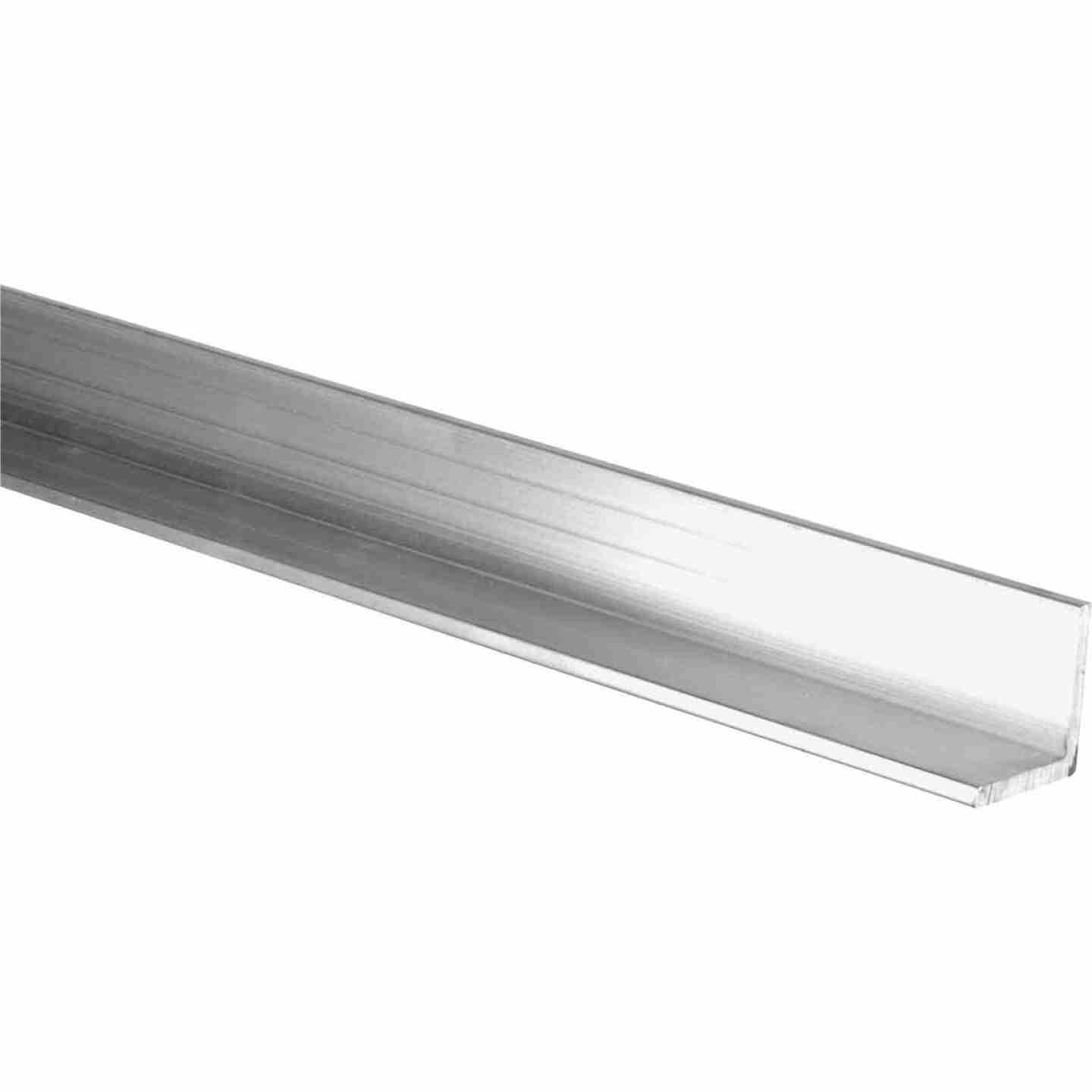 HILLMAN Steelworks Mill 1-1/2 In. x 8 Ft., 1/8 In. Aluminum Solid Angle Image 1