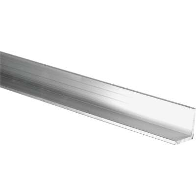 HILLMAN Steelworks Mill 1-1/2 In. x 6 Ft., 1/16 In. Aluminum Solid Angle