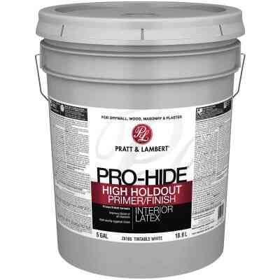 Pratt and Lambert Pro-Hide High Hold Out Interior Primer Sealer, White, 5 Gal.
