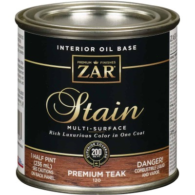 ZAR Oil-Based Wood Stain, Premium Teak, 1/2 Pt.