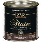 ZAR Oil-Based Wood Stain, Dark Chocolate Truffle, 1/2 Pt. Image 1