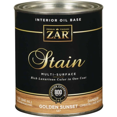 ZAR Oil-Based Wood Stain, Golden Sunset, 1 Qt.