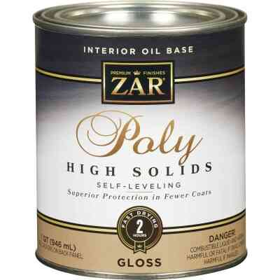 ZAR VOC Gloss Classic Wood Finish Interior Polyurethane, 1 Qt.