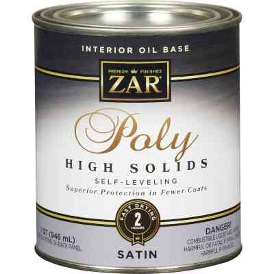 ZAR VOC Satin Classic Wood Finish Interior Polyurethane, 1 Qt.