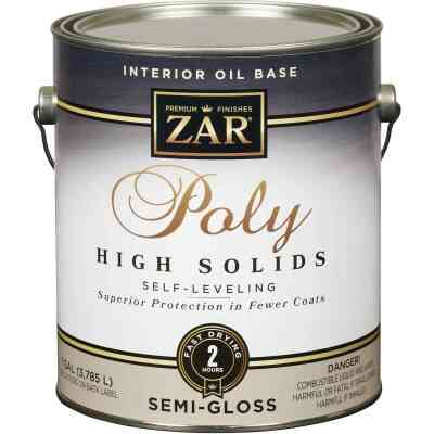 ZAR VOC Semi-Gloss Classic Wood Finish Interior Polyurethane, 1 Gal.