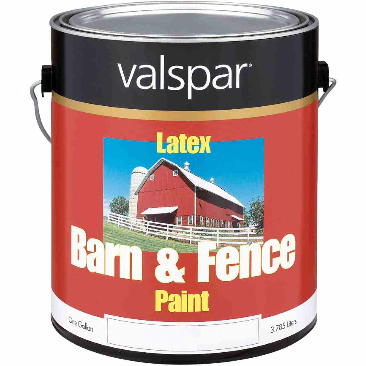 Valspar Latex Paint & Primer In One Flat Barn & Fence Paint, Red, 1 Gal. Image 1