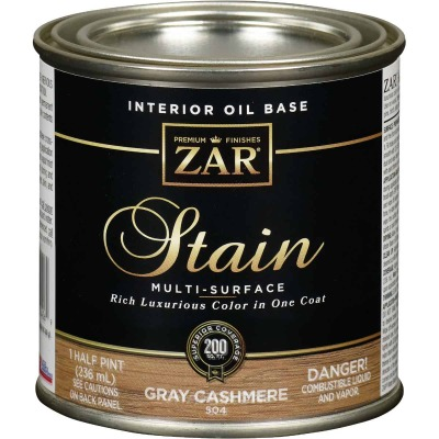 Zar 1/2 Pt. Cashmere Gray Oil-Based Multi-Surface Interior Stain