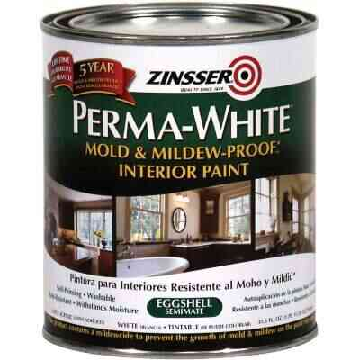 Zinsser Perma-White White-Tintable Eggshell Quart Mildew Paint