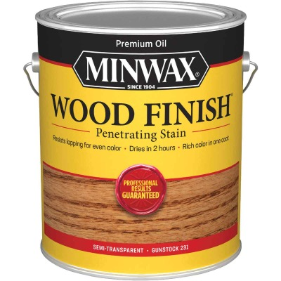 Minwax Wood Finish Penetrating Stain, Gunstock, 1 Gal.