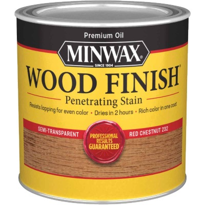 Minwax Wood Finish Penetrating Stain, Red Chestnut, 1/2 Pt.