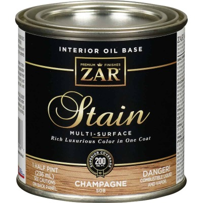 Zar 1/2 Pt. Champagne Oil-Based Multi-Surface Interior Stain