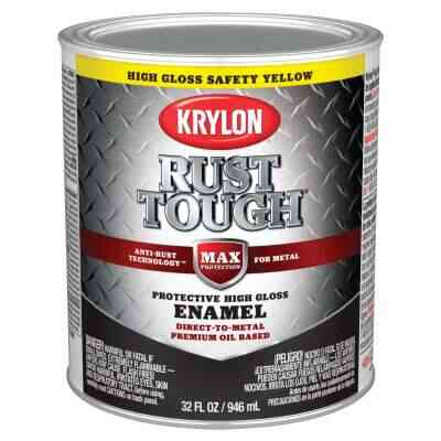 Valspar Oil-Based Gloss Anti-Rust Armor Safety Color Rust Control Enamel, Safety Yellow, 1 Qt.