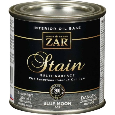 Zar 1/2 Pt. Blue Moon Oil-Based Multi-Surface Interior Stain