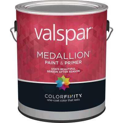 Valspar Medallion 100% Acrylic Paint & Primer Flat Exterior House Paint, Black, 1 Gal.