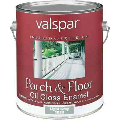 Valspar 1 Gal. Light Gray Oil Based Gloss Porch & Floor Enamel