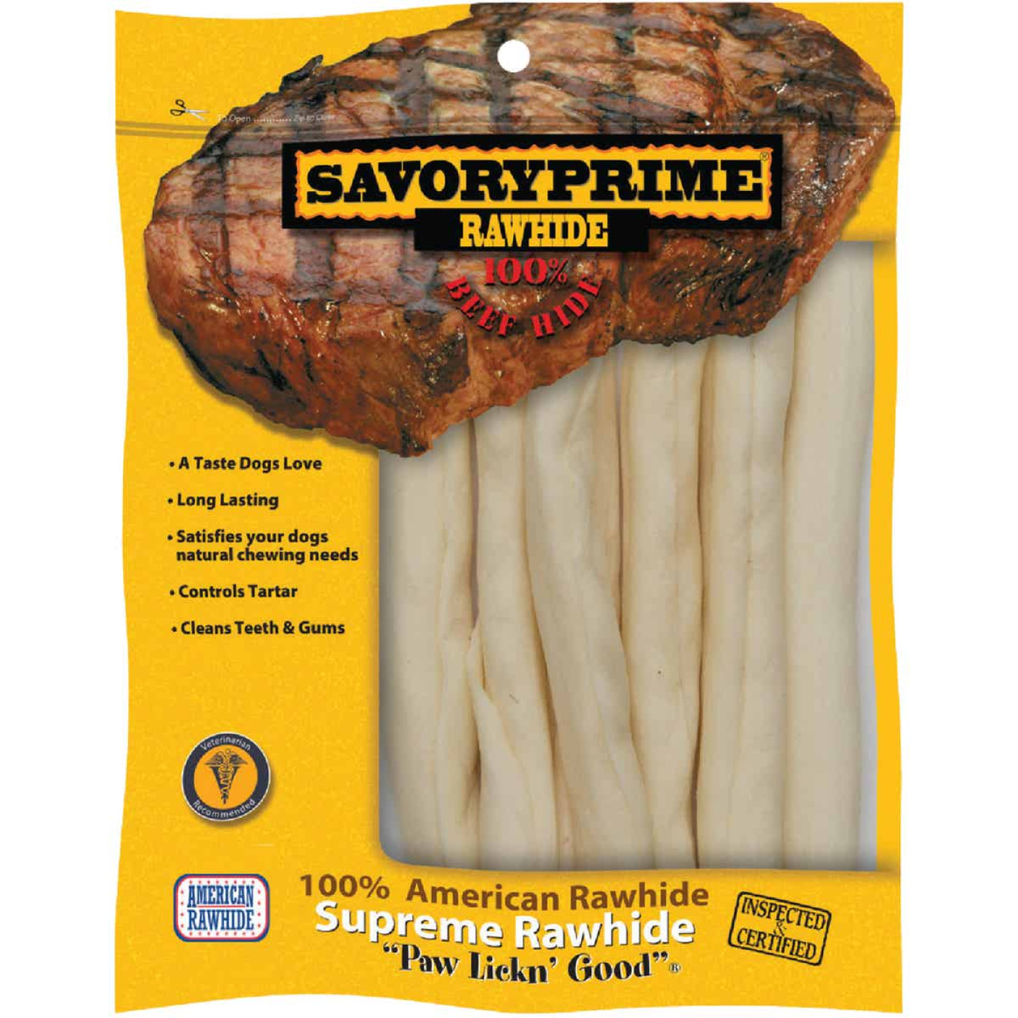Savory Prime Natural Stick 9 In. to 10 In. Rawhide Chew Image 1