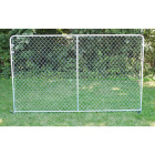 Fence Master Silver Series 10 Ft. W. x 6 Ft. H. Steel Kennel Panel Image 1