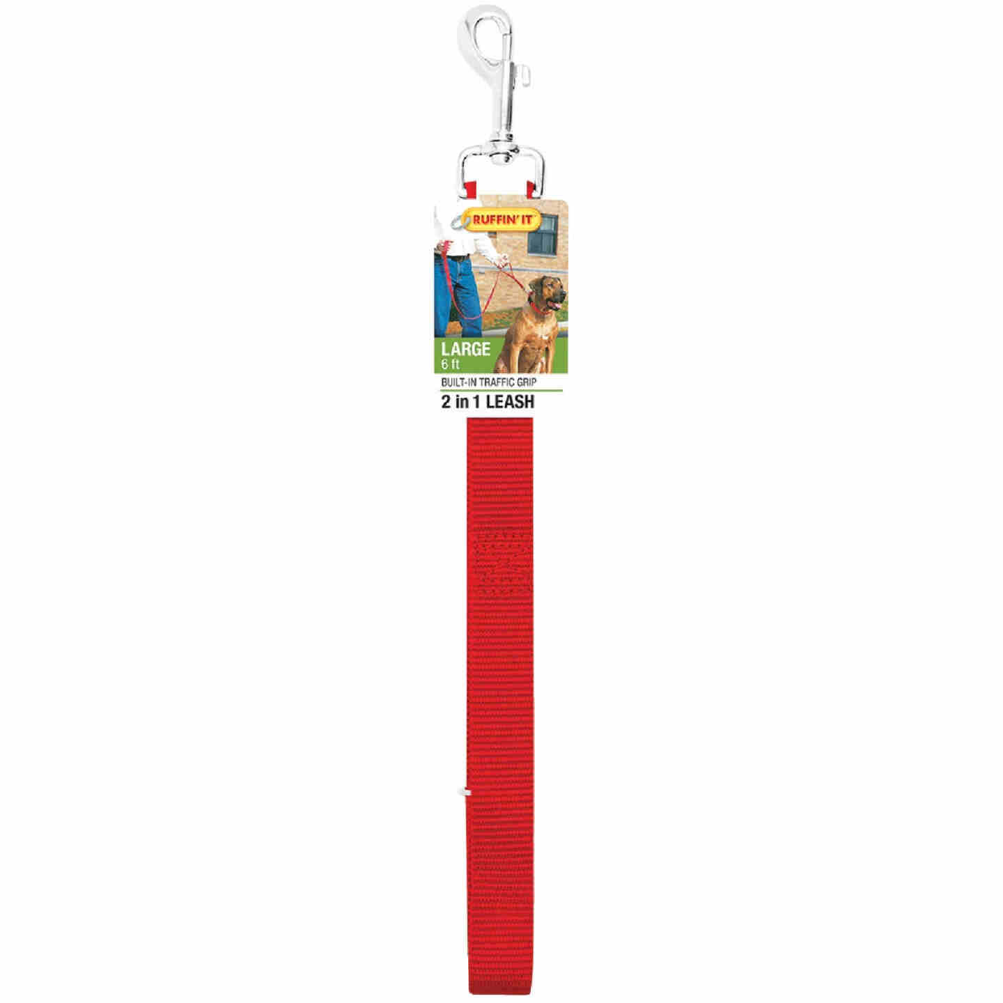 Westminster Pet Ruffin' it 6 Ft. Nylon 2-In-1 Dog Leash Image 5