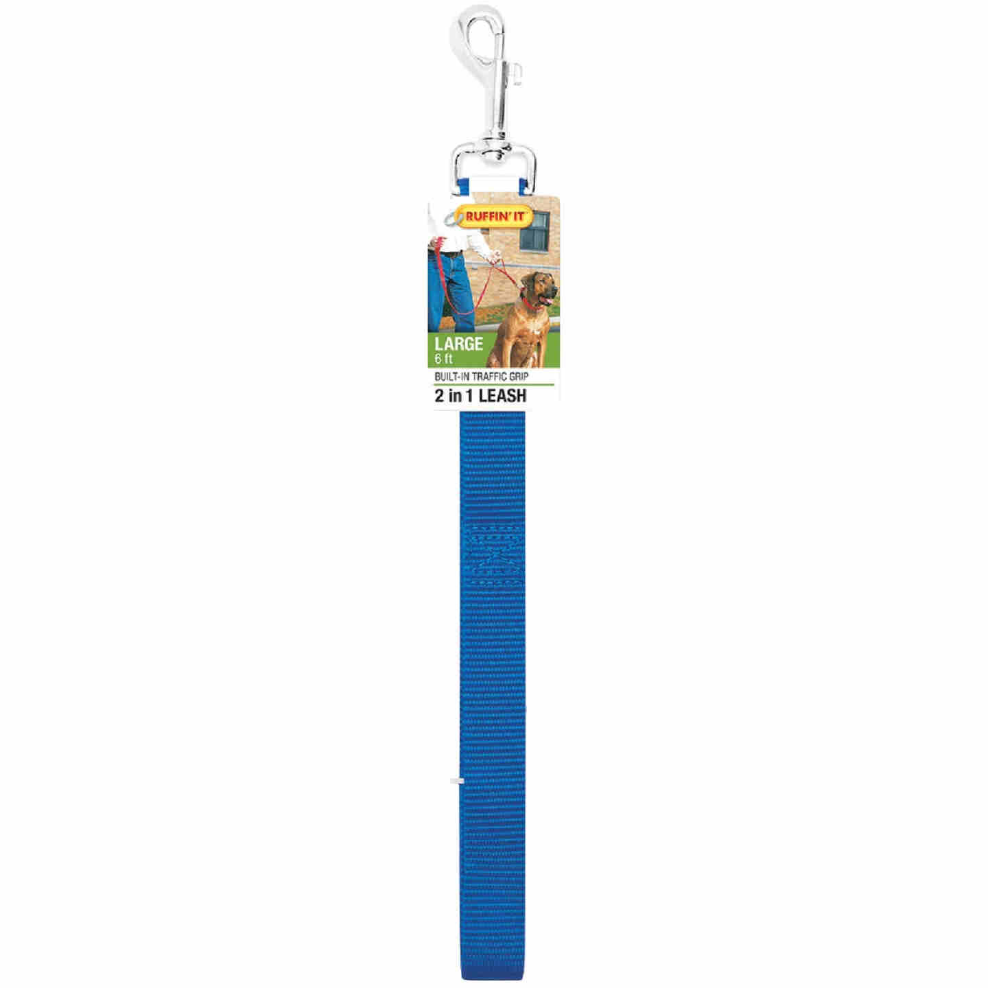 Westminster Pet Ruffin' it 6 Ft. Nylon 2-In-1 Dog Leash Image 3