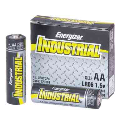 Energizer Industrial AA Alkaline Battery (4-Pack)
