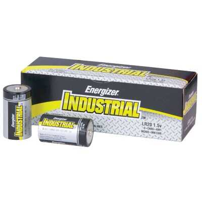 Energizer Industrial D Alkaline Battery (12-Pack)