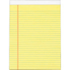 Staples 8-1/2 In. W. x 11 In. H. 50-Sheet Yellow Top Bound Legal Pad (12-Pack) Image 1